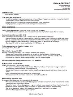 chronological resume sample admin assistant this resume example has a job objective statement and spans of unemployment and short term jobs that - Sample Resumes For Receptionist Admin Positions