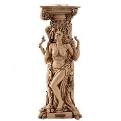 Mother Maiden Crone Ivory Candleholder - CC11494 from Medieval Collectibles