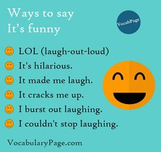 Different ways to say 'It's funny'  www.vocabularypage.com