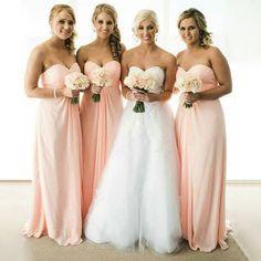 Simple Cheap Chiffon Sweet Heart Formal A Line Floor-Length Wedding Pa – SposaDesses