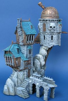 CoolMiniOrNot - Skullvane Manse Lair of the Astromancer Warhammer Empire, Warhammer Fantasy, Stormcast Eternals, Warhammer Terrain, Game Terrain, Medieval Houses, Wargaming Terrain, Fantasy House, Interesting Buildings