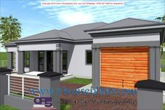 Overall Dimensions- x 2 Car Garage Area- Square meters Bungalow Floor Plans, House Floor Plans, Exterior Paint Colors, Paint Colours, House Plans South Africa, 5 Bedroom House Plans, Flat Roof House, Free House Plans, Building Costs