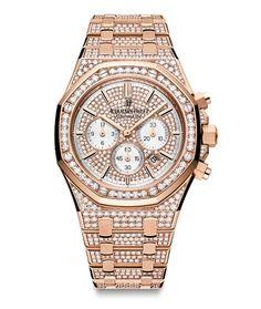 SIHH 2014: la montre Royal Oak Chronographe d'Audemars Piguet http://www.vogue.fr/joaillerie/a-voir/diaporama/sihh-2014-belles-montres-du-salon-international-de-la-haute-horlogerie-jour-3/17237/image/923790#!sihh-2014-la-montre-royal-oak-chronographe-d-039-audemars-piguet