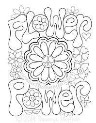 Image Result For Simple Hippie Coloring Pages Flower Coloring