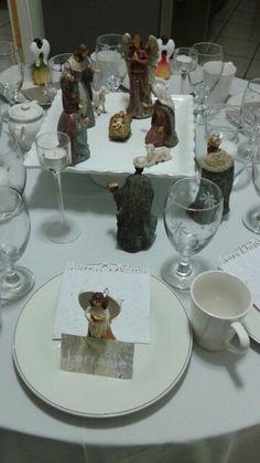 Nativity manger scene centerpiece table decoration