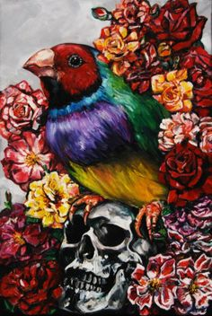 Bird with Skull, 2011 By Artist: Gavin Brown $2500