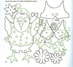 HÚSVÉTI PAPÍRDÍSZEK - kisferenc.qwqw.hu Diy And Crafts, Crafts For Kids, Paper Crafts Origami, Hens, Coloring Pages, Kids Rugs, Ornaments, Spring, Flowers