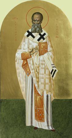 Άγιος Γρηγόριος ο Θεολόγος / Saint Gregory the Theologian Byzantine Icons, Byzantine Art, Saint Gregory, Orthodox Icons, Saints, Fresco