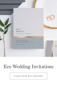 Made with Recycled Paper Modern Wedding Invitations, Wedding Stationary, Wedding Invitation Cards, Wedding Cards, Typography Wedding Invitations, Business Invitation, Invitation Card Design, Invite, Wedding Plants