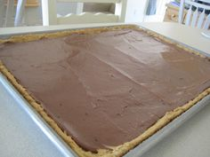 School Lunch Peanut Butter Bars: A former lunch lady took the cafeteria's peanut butter bar recipe, and scaled it down, and came up with this gem. They are the best peanut butter bars I have ever tasted. Ever.