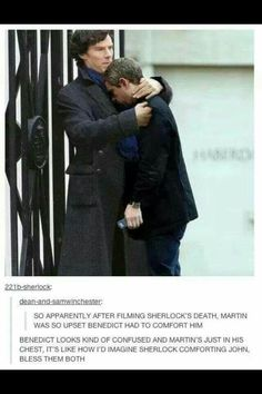 They are John & Sherlock. Well it because Martin is imagining that the science was real. Hotness jump off a building I would be upset to. -J << This is such an adorable idea awwww Sherlock Meme, Benedict Cumberbatch Sherlock, Sherlock John, Sherlock Quotes, Sherlock Holmes Funny, Watson Sherlock, Jim Moriarty, Sherlock Season 4, Sherlock Series