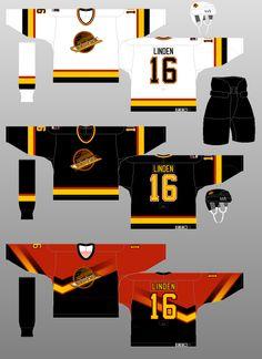 Vancouver Canucks - The (unofficial) NHL Uniform Database Ice Hockey Jersey, Ice Hockey Teams, Hockey Games, Hockey Players, Hockey Stuff, Hockey Sweater, Hockey World, International Teams, Nhl Jerseys