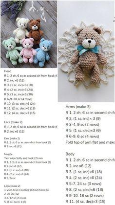 Amigurumi Little Bear Free Crochet Pattern – Amigurumi Crochet – Slideit.top Informations About Amigurumi Little Bear Free Crochet Pattern – Amigurumi Crochet – Slideit. Bunny Crochet, Crochet Bear Patterns, Crochet Dolls, Free Crochet, Amigurumi Patterns, Free Knitting, Crocheted Animals, Amigurumi Toys, Knitting Needles