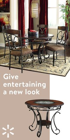 Give your dining room a stylish refresh with furniture and home decor from Walmart.com. Whether you're looking to create the perfect space to entertain or just a comfortable room to dine in with the family—you'll find everything you need at Walmart.com. Shop the collection today.