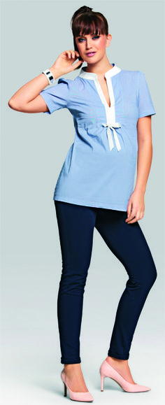 Julia blue maternity shirt