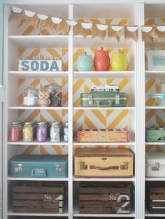 Choose Creative Containers  Organizing doesn't have to be utilitarian. Fun bins like vintage suitcases, wooden crates and (of course) mason jars add style to your streamlining efforts.