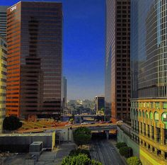 A view of our global headquarters at 400 S. Hope Street in downtown Los Angeles, facing northwest on West 4th Street. To the right is California Plaza. Photo credit: Instagram user @dtla_everyday