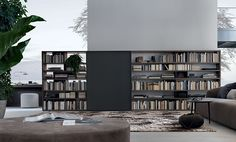 Open System wall unit from Jesse for those who love to decorate with books
