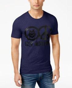 Love Moschino Men's Graphic-Print T-Shirt - Blue S