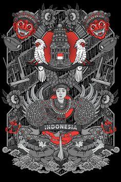 Indonesian Art, Batik Art, Vintage Greeting Cards, Psychedelic Art, Vintage Frames, Doodle Art, New Art, Vector Art, Concept Art