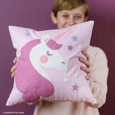 DIY Unicorn Pillow #UnicornPillow