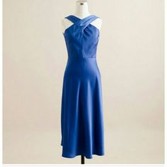 J. CREW sararose dress in tricotine royal blue BEAUTIFUL picture does not do justice for this dress.  NWT completely lined and fabric is high quality J. Crew Dresses Midi