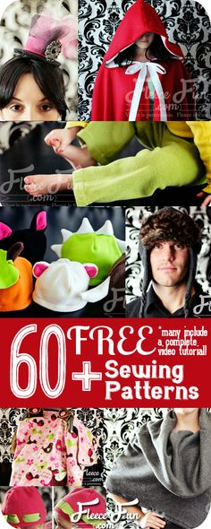 Wow free and most have a video tutorial?  Love! free fleece sewing patterns free fleece sewing projects