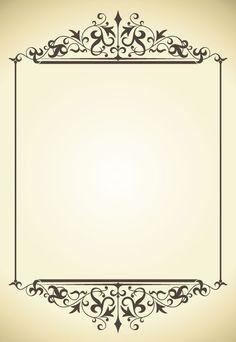 Vintage frame vector-5