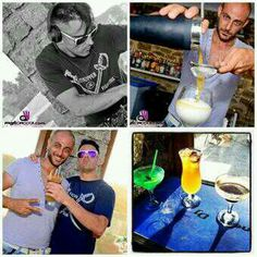 Mykonos Cocktail Collage @ Sueño Mykonos, Baseball Cards, Sports, Cocktails, Hs Sports, Excercise, Exercise, Sport