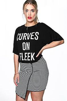 Plus Layla Curves Slogan Tshirt