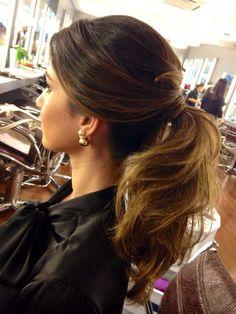 inspiração de penteado: rabo de cavalo