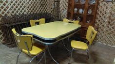 For Sale: 1950's table and chairs (4) available at Brass Bear -- will not hold must pick up - Table and 4 chairs are in excellent condition. Call Brass Bear for directions. 2652 Valleydale Road -- near Caldwell Mill Road -- 205-566-0601