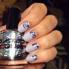 Springtime glitter nails