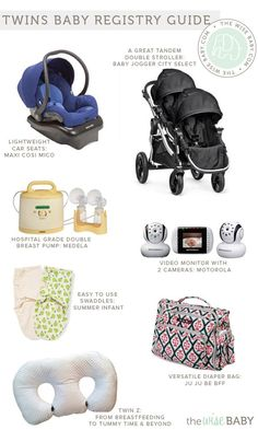 Twins Baby Registry Guide - what you need 2 of and what you can get away with only one of + lots of other great gear!