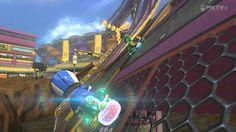 Yoshi Aggressively Races Mii (Riding a Yoshi Bike)