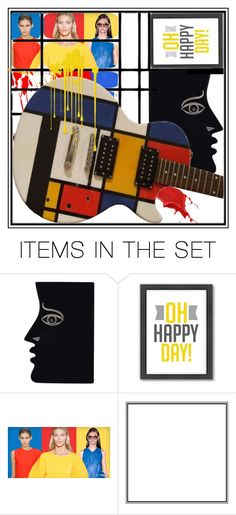 """""""Happy Day with Mondrian"""" by capricat ❤ liked on Polyvore featuring art"""