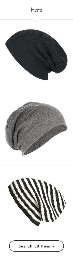 """""""Hats"""" by monica-cookson ❤ liked on Polyvore featuring accessories, hats, beanies, gorros, beanie hats, beanie cap hat, beanie cap, beanie, slouch beanie hats and slouchy beanie hat"""