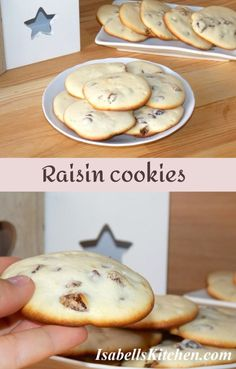 Raisin cookies (video recipe) - isabell's kitchen Best Breakfast Recipes, Brunch Recipes, Great Recipes, Dessert Recipes, Favorite Recipes, Desserts, Lemon Crinkle Cookies, Raisin Cookies, How To Make Raisins