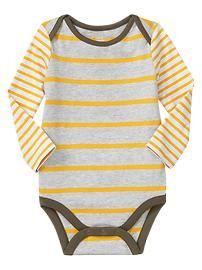 Mix-stripe bodysuit / / Gender Neutral Baby clothes and shoes / #stripes #onesie #mustard