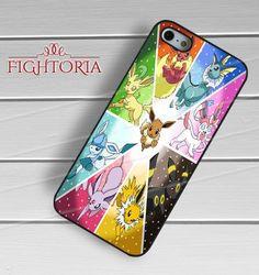 Pokemon eveelutions love cute evee-nay for iPhone 6S case, iPhone 5s case, iPhone 6 case, iPhone 4S, Samsung S6 Edge