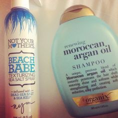 .I love the Not Your mother's Beach Babe Sea Salt Spray. I just need to try the Moroccan Argan Shampoo!