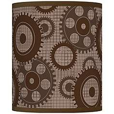 Industrial gears giclee lamp shade 135x135x10 spider for the lamp shades page 16 mozeypictures Gallery
