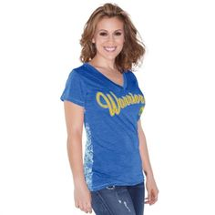 Women's Philadelphia Eagles Touch by Alyssa Milano Midnight Green Audrey V-Neck T-Shirt