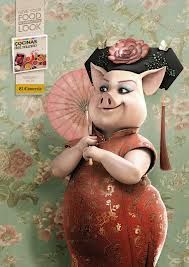 geisha pig