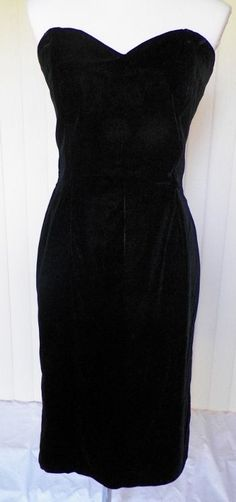 On Ruby Lane - 1950s Black Velvet Wiggle Dress, $65