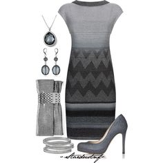 """""""Sparkle of Silver with Steel Blue"""" by stardustnf on Polyvore"""