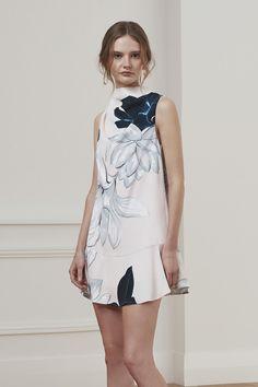 Keepsake True Lies Mini Dress Floral Print