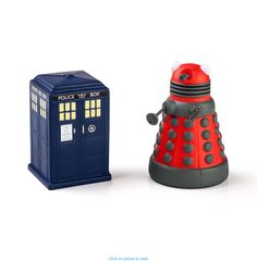 Doctor Who TARDIS and Dalek Stress Toys Home #Office #Geeky #Office #Supplies