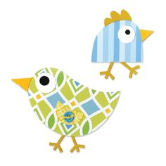 How funny are these little #birds? This is a perfect DIY #Easter decoration. You could make your own #garland or Easter table decoration with this Sizzix Bigz die birds.