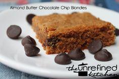 Almond butter chocolate chip blondies!